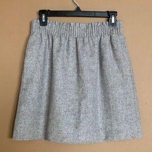 J crew Speckled Gray Wool Blend Mini Skort size 4